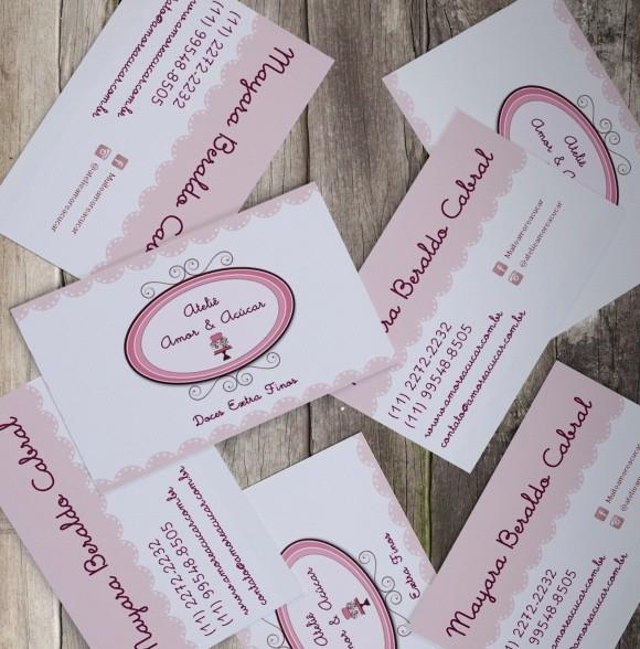Cartão de Visita Amor & Açúcar