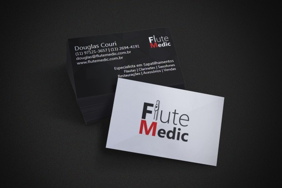 Cartão de Visita Flute Medic